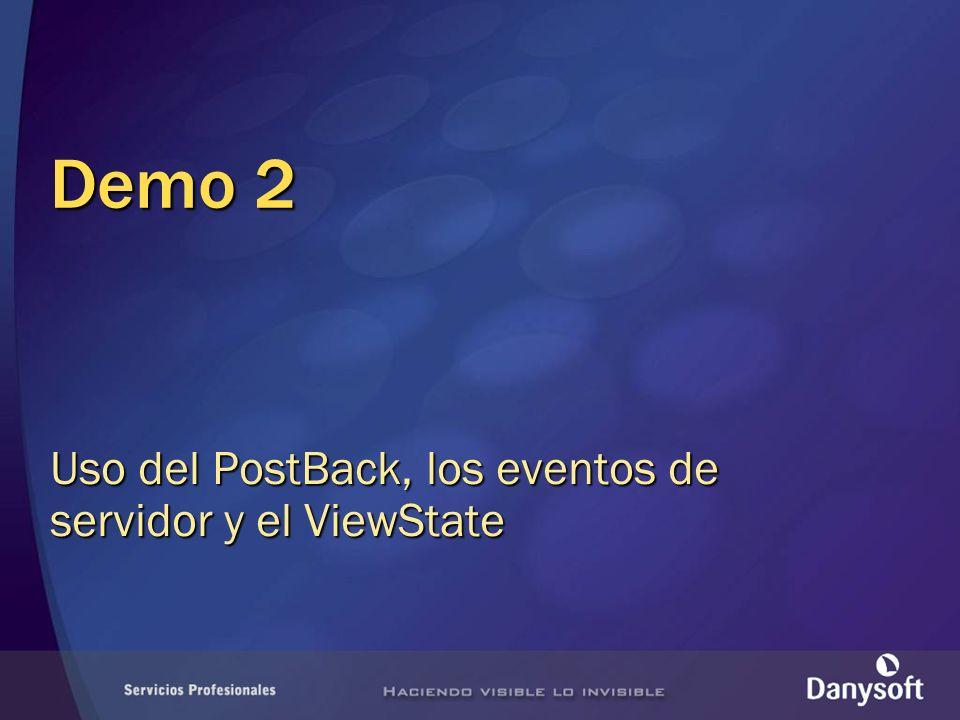 Uso del PostBack, los eventos de servidor y el ViewState