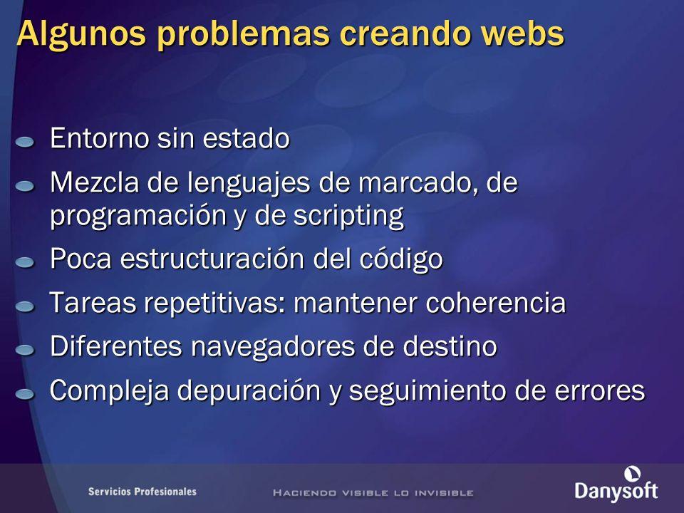 Algunos problemas creando webs
