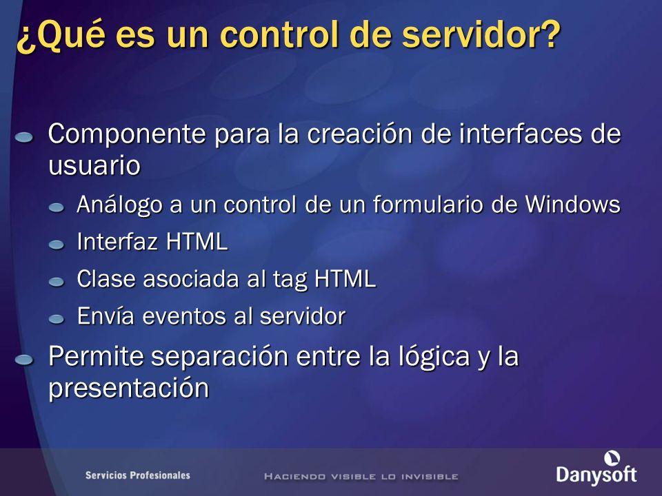 ¿Qué es un control de servidor