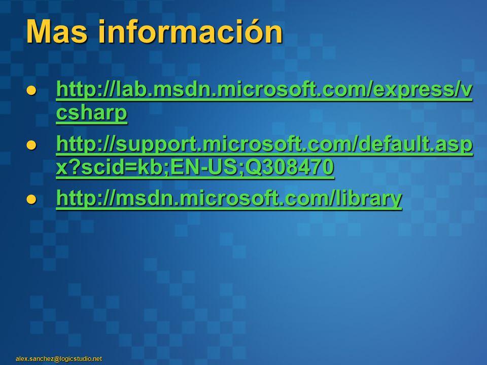 Mas información http://lab.msdn.microsoft.com/express/vcsharp