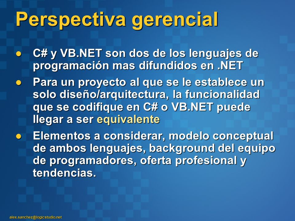 Perspectiva gerencial