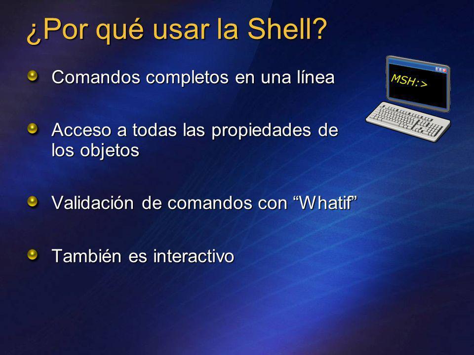 ¿Por qué usar la Shell Comandos completos en una línea