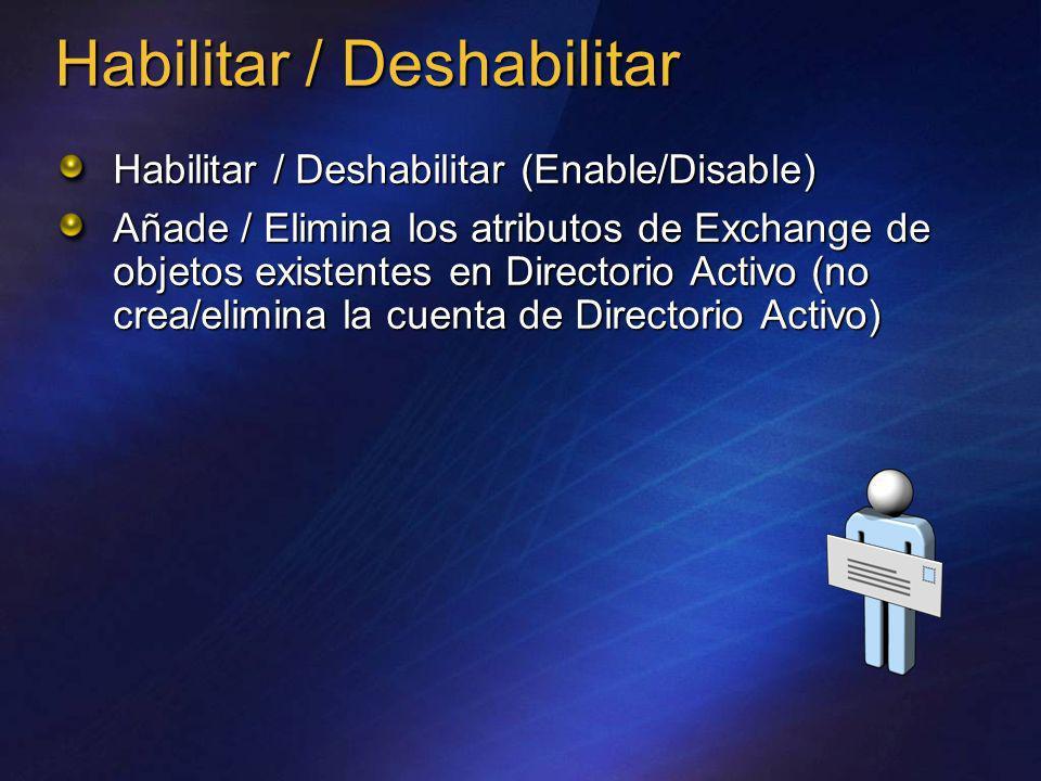Habilitar / Deshabilitar