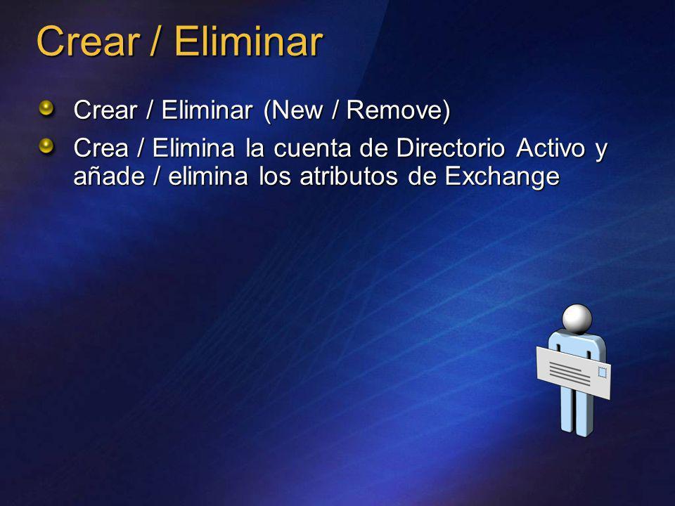 Crear / Eliminar Crear / Eliminar (New / Remove)