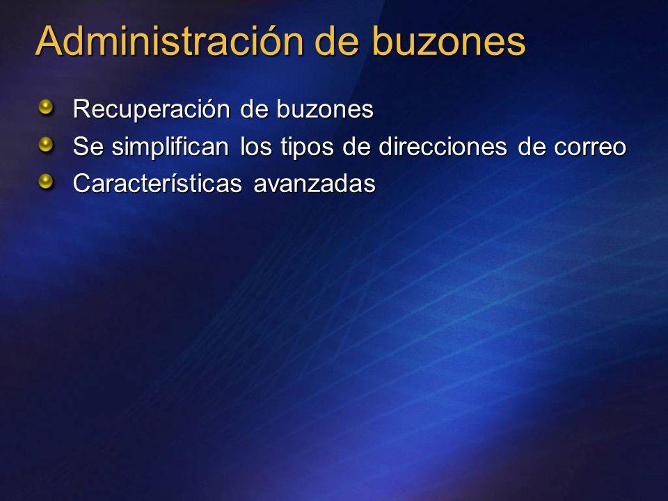 Administración de buzones