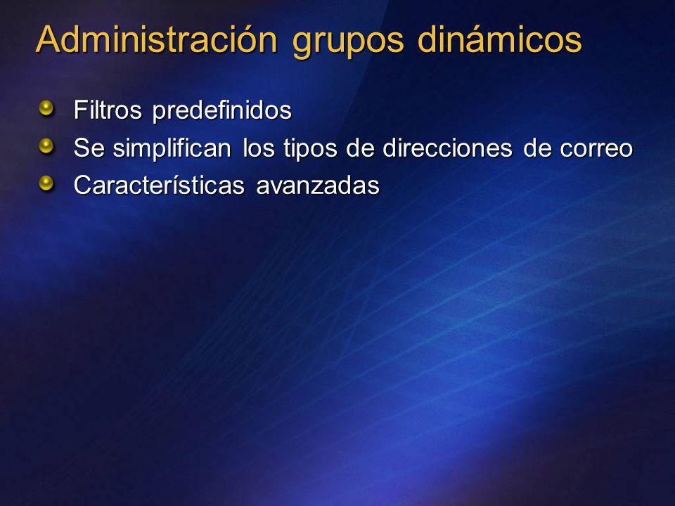 Administración grupos dinámicos