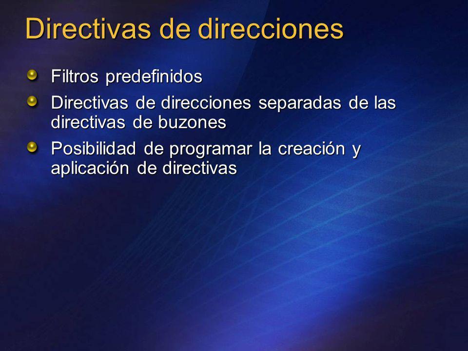 Directivas de direcciones