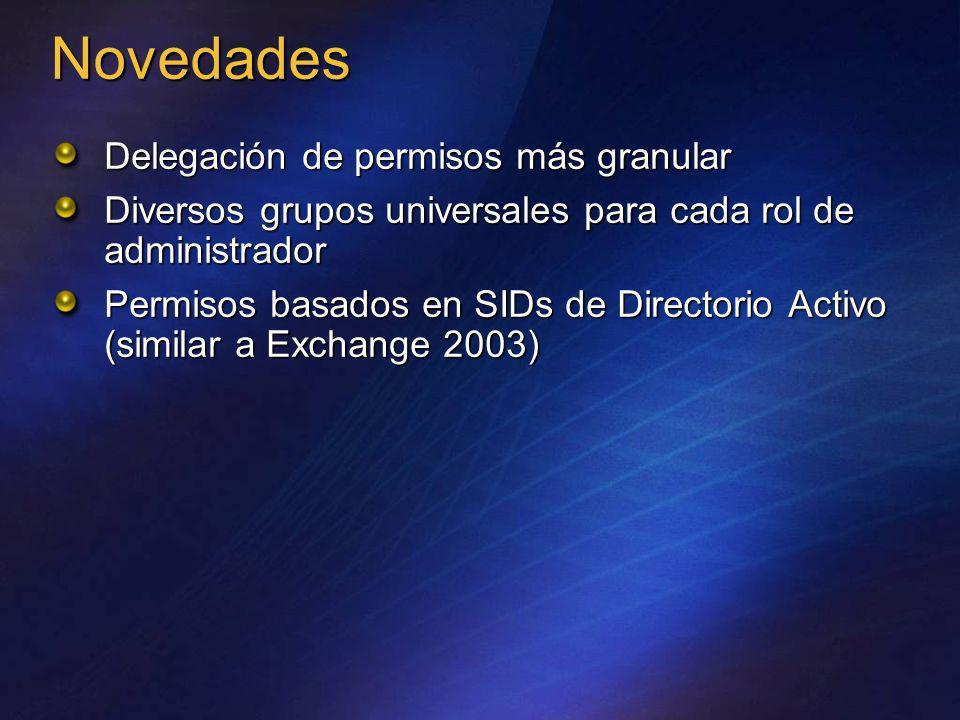 Novedades Delegación de permisos más granular