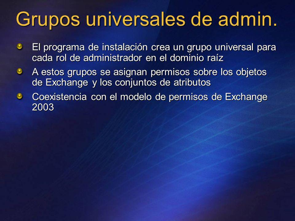 Grupos universales de admin.