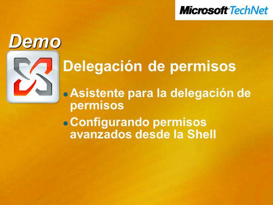 Demo Demo Delegación de permisos