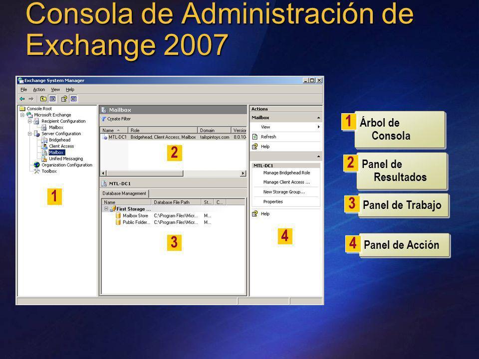 Consola de Administración de Exchange 2007