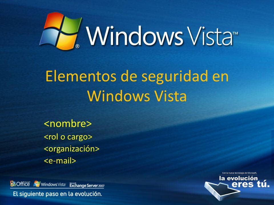Elementos de seguridad en Windows Vista