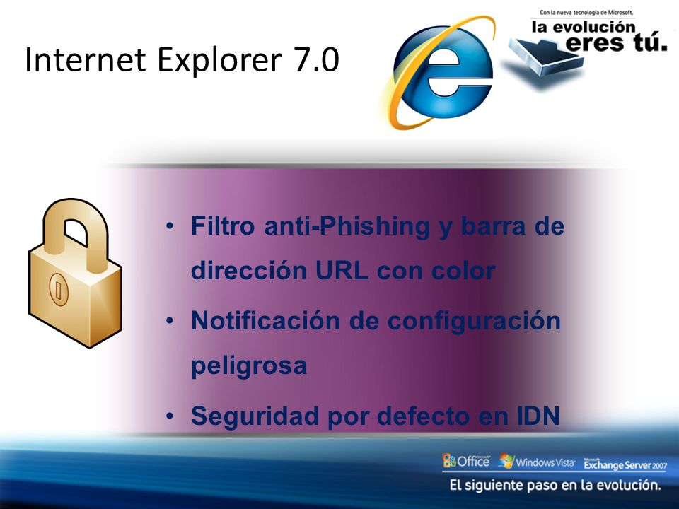 Internet Explorer 7.0 Social Engineering Protections