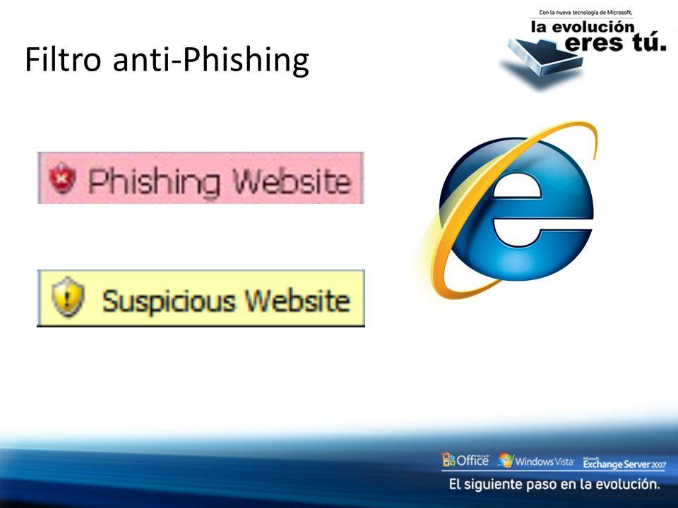 Filtro anti-Phishing Slide Title: Phishing filter