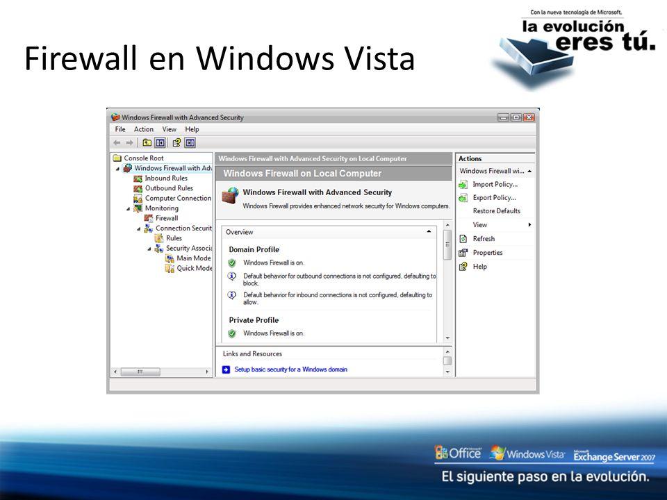 Firewall en Windows Vista