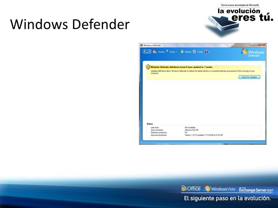 Windows Defender Slide Title: Windows Defender