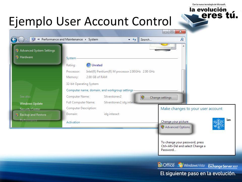 Ejemplo User Account Control