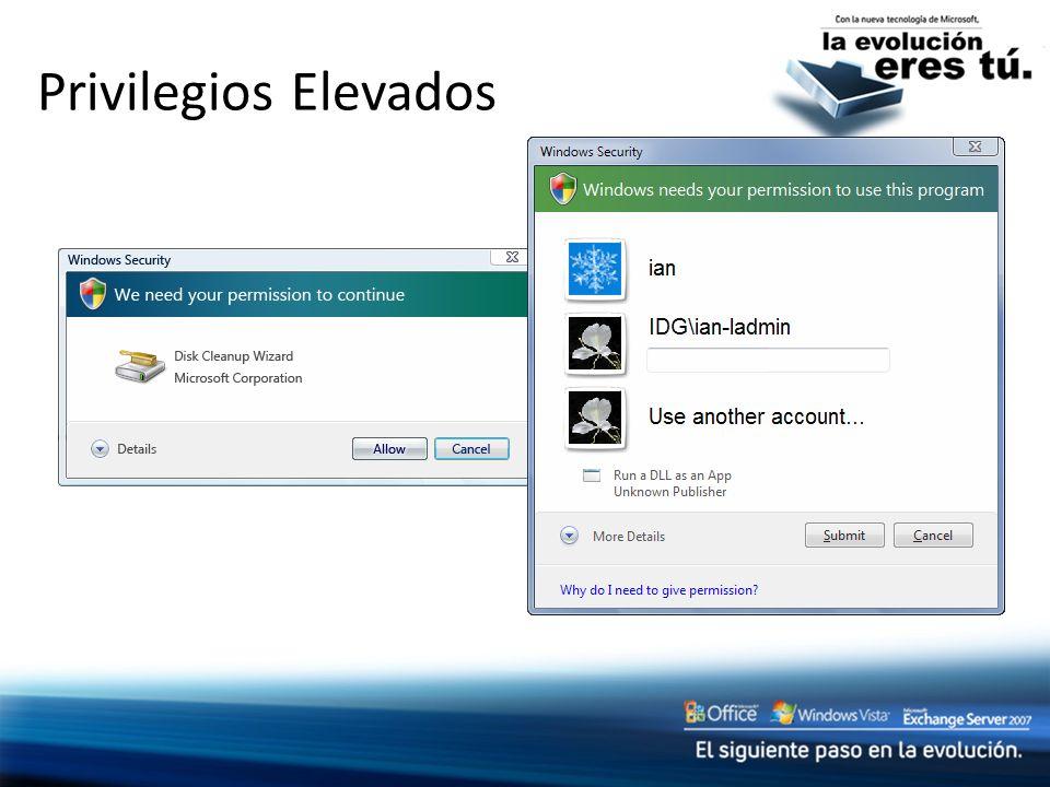 Privilegios Elevados Slide Title: Elevation Privileges