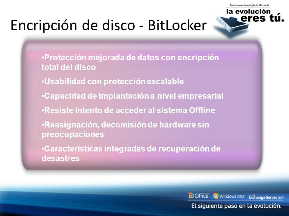 Encripción de disco - BitLocker