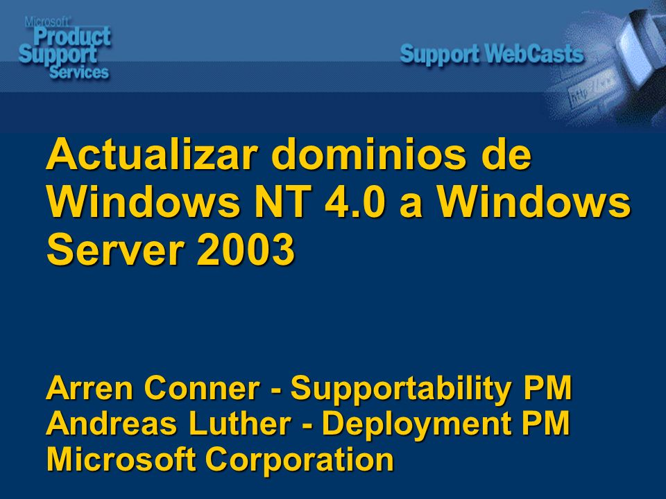 Actualizar dominios de Windows NT 4
