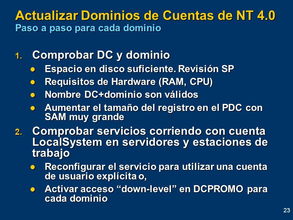 Actualizar Dominios de Cuentas de NT 4.0 Paso a paso para cada dominio