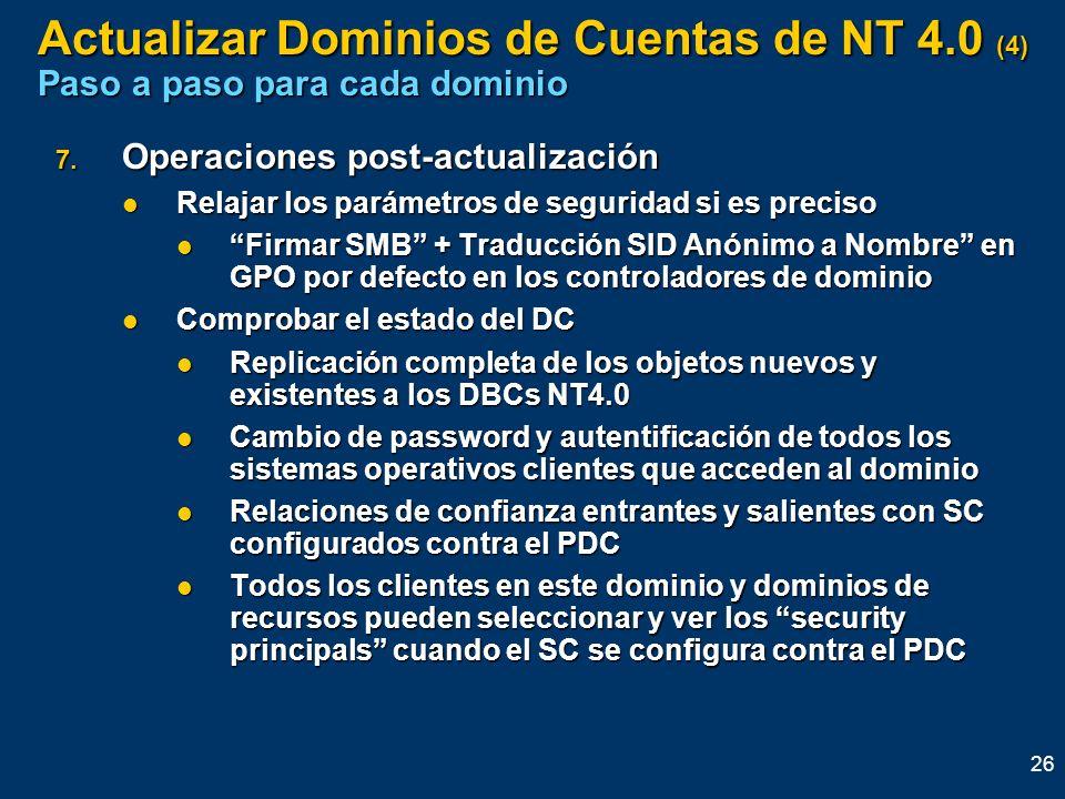Actualizar Dominios de Cuentas de NT 4