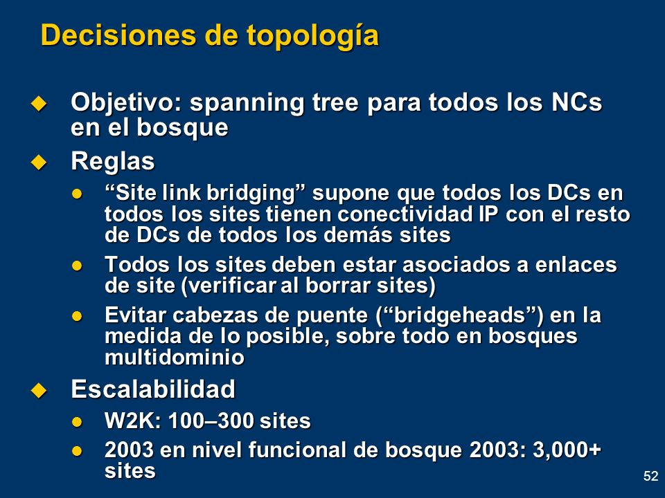 Decisiones de topología