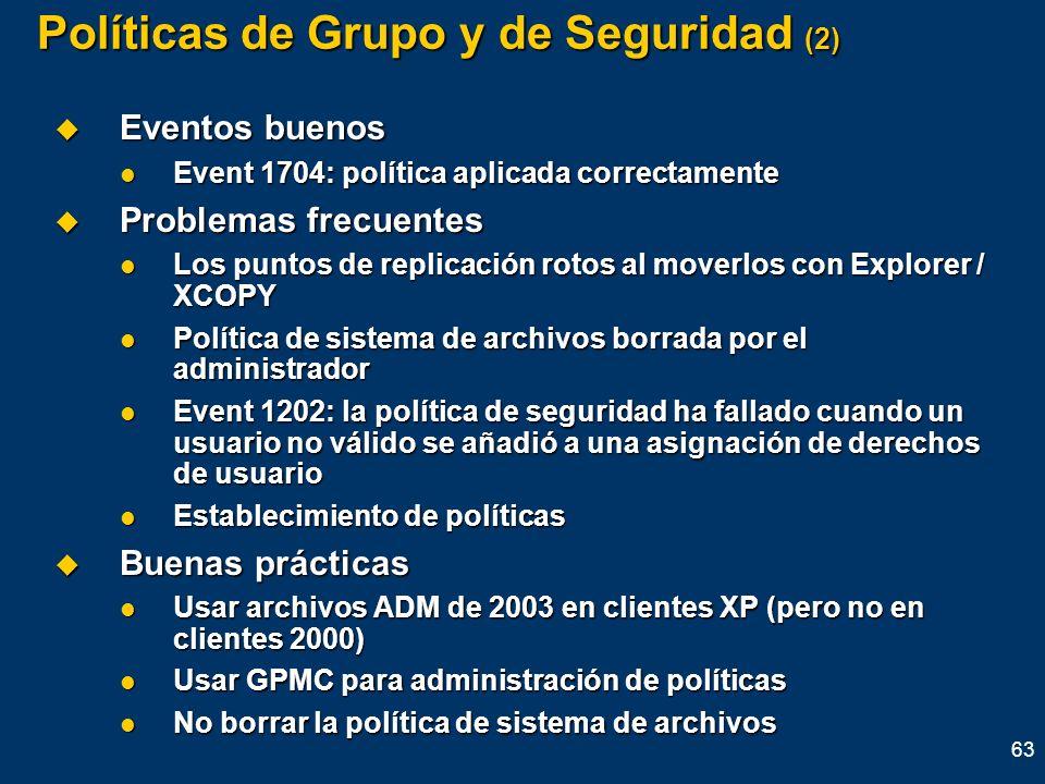 Políticas de Grupo y de Seguridad (2)