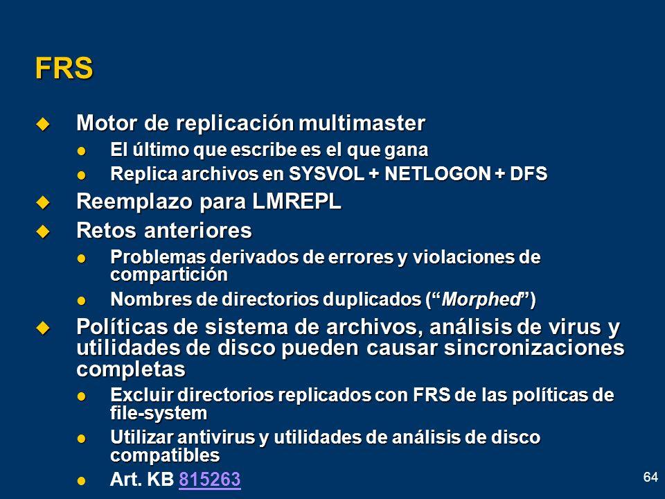 FRS Motor de replicación multimaster Reemplazo para LMREPL