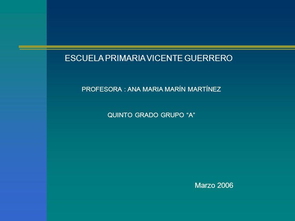 ESCUELA PRIMARIA VICENTE GUERRERO