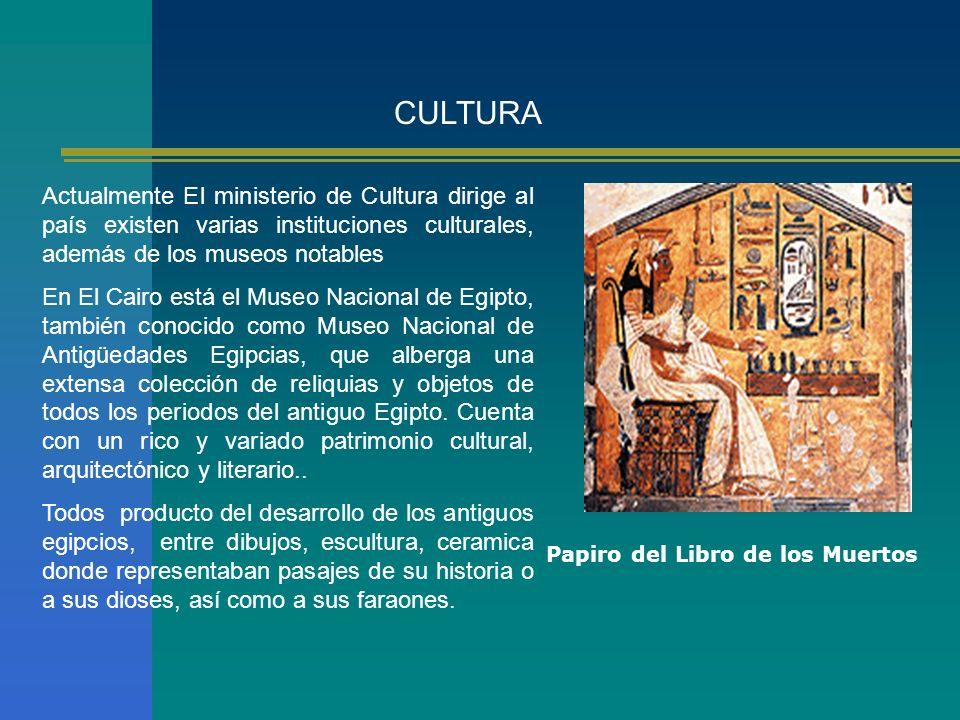 CULTURAActualmente El ministerio de Cultura dirige al país existen varias instituciones culturales, además de los museos notables.
