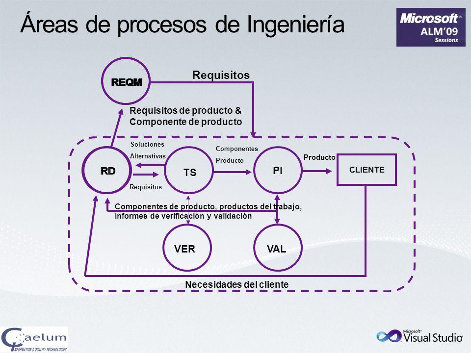 Áreas de procesos de Ingeniería