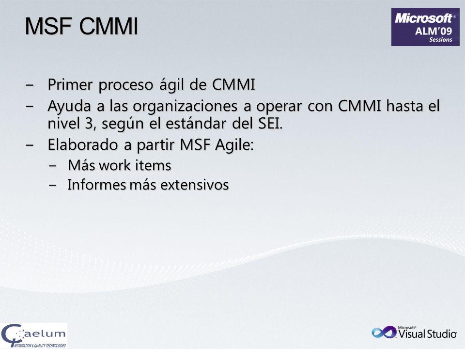 MSF CMMI Primer proceso ágil de CMMI