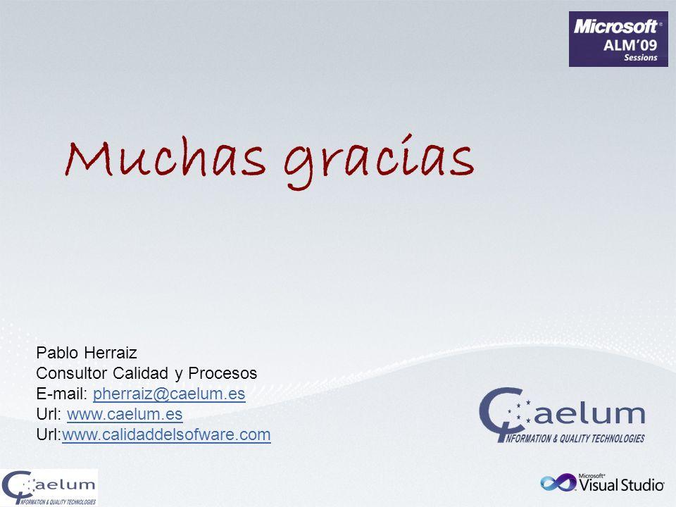 Muchas gracias Pablo Herraiz Consultor Calidad y Procesos