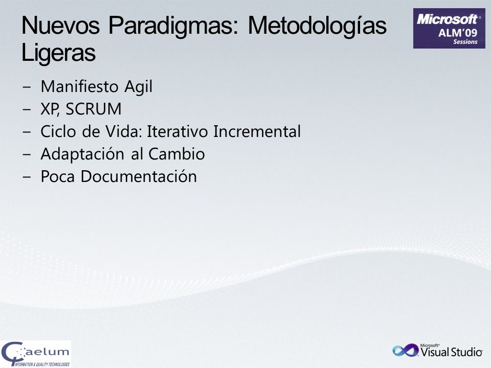Nuevos Paradigmas: Metodologías Ligeras