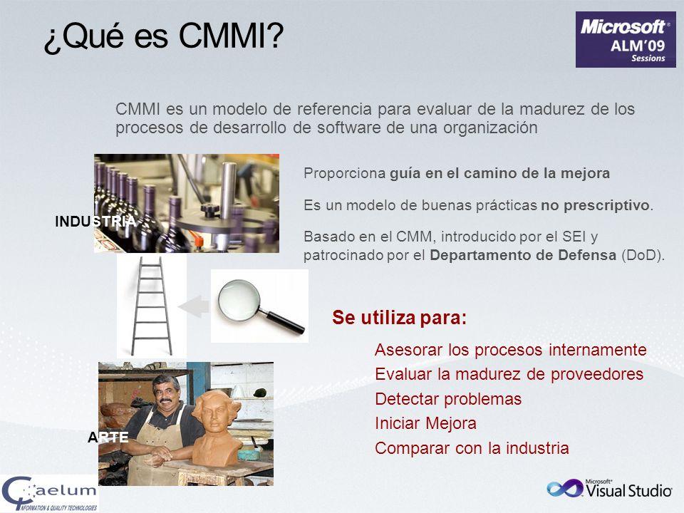 ¿Qué es CMMI Se utiliza para: