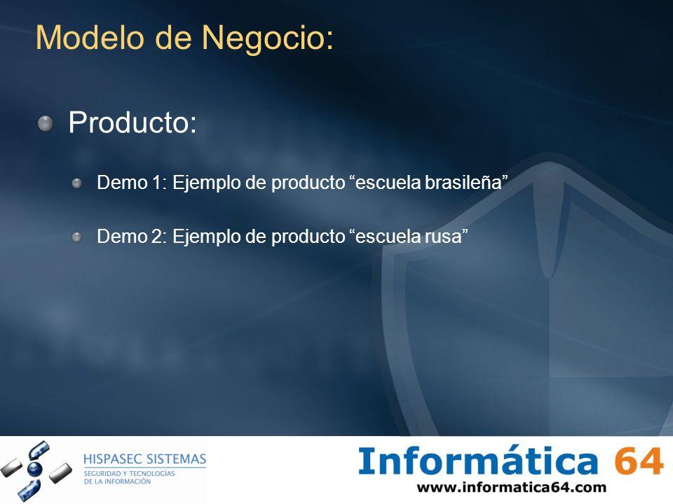 Modelo de Negocio: Producto: