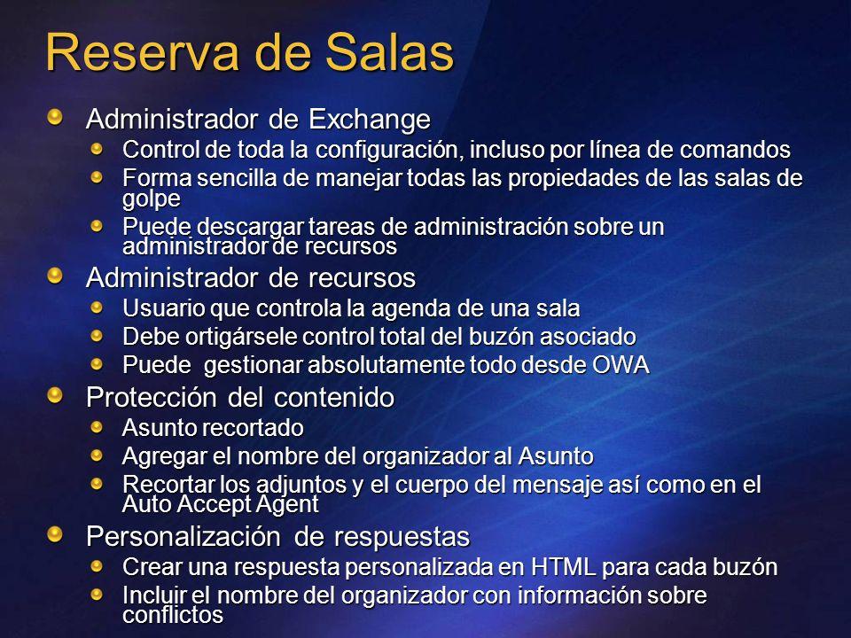 Reserva de Salas _______ _________ ________