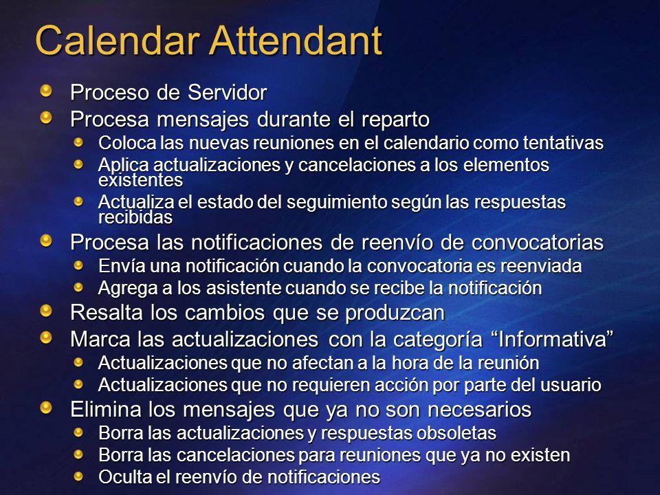 Calendar Attendant _______ _________