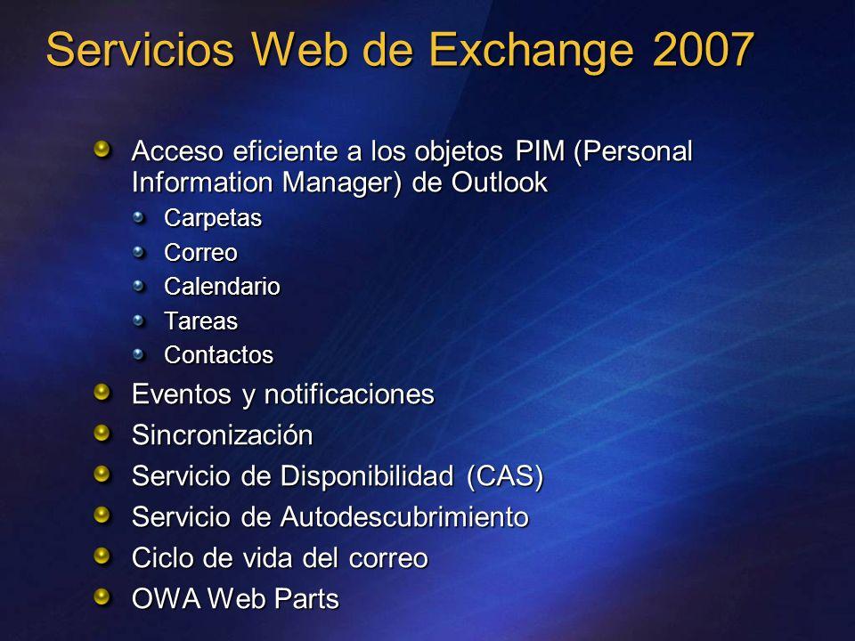 Servicios Web de Exchange 2007