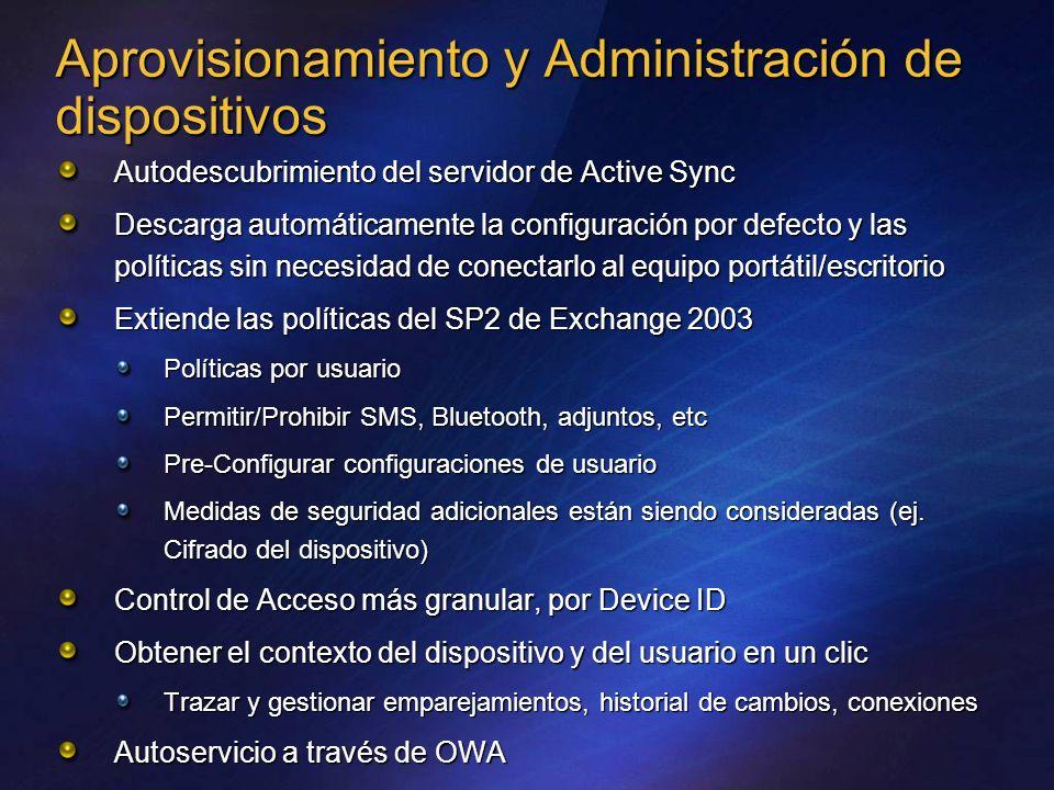 Aprovisionamiento y Administración de dispositivos