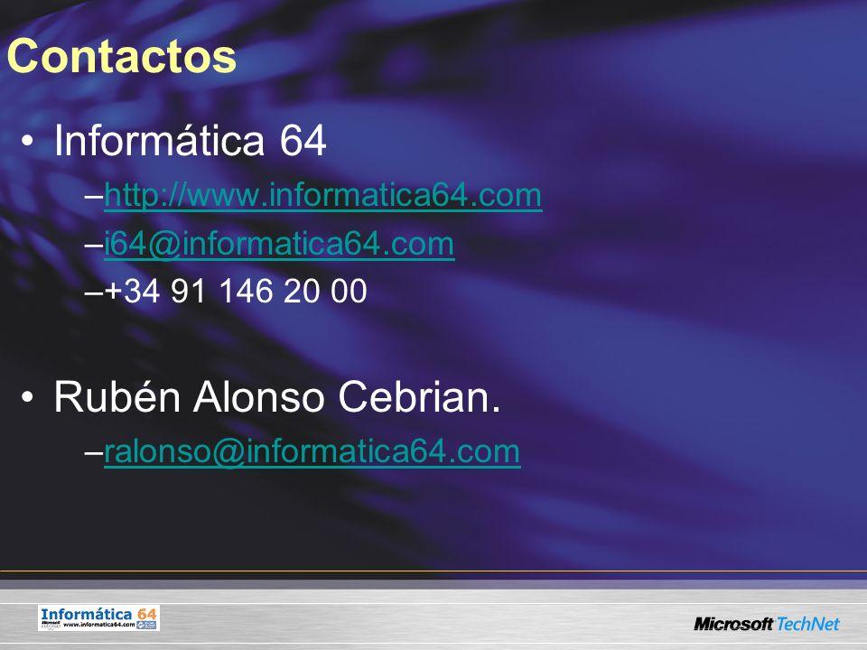 Contactos Informática 64 Rubén Alonso Cebrian.
