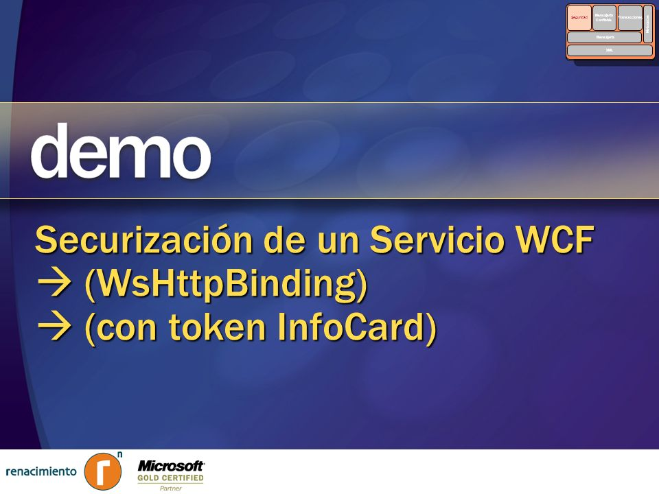Security Reliable. Messaging. Transactions. Metadata. XML. Seguridad. Mensajería. Confiable.