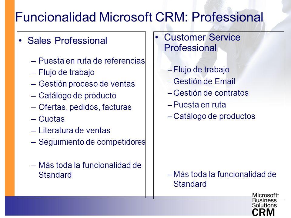 Funcionalidad Microsoft CRM: Professional
