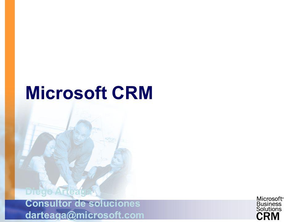 Microsoft CRM Diego Arteaga Consultor de soluciones