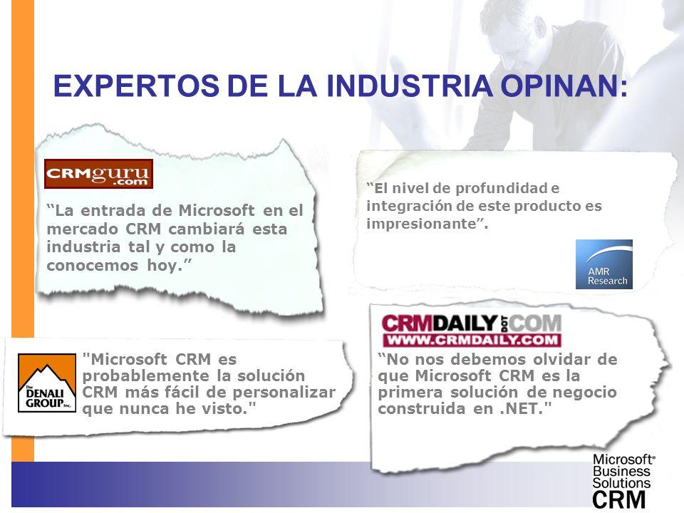 EXPERTOS DE LA INDUSTRIA OPINAN: