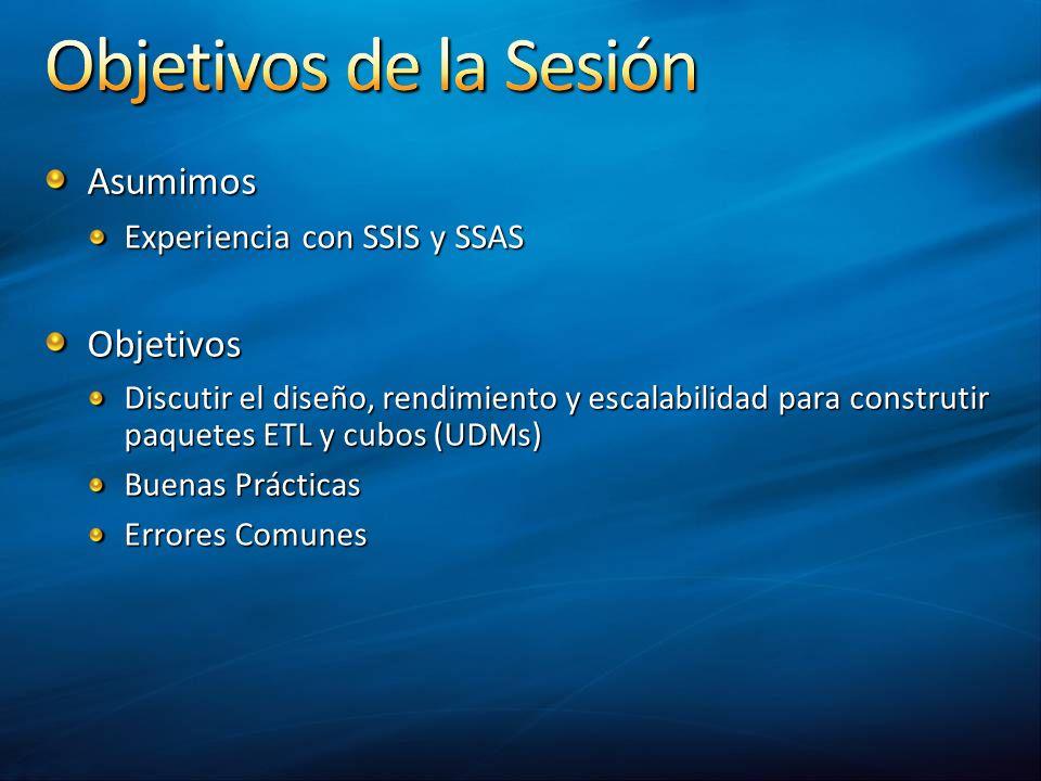 Asumimos Objetivos Experiencia con SSIS y SSAS