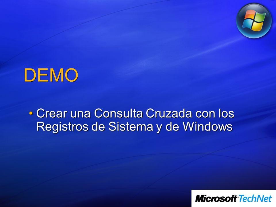 Crear una Consulta Cruzada con los Registros de Sistema y de Windows