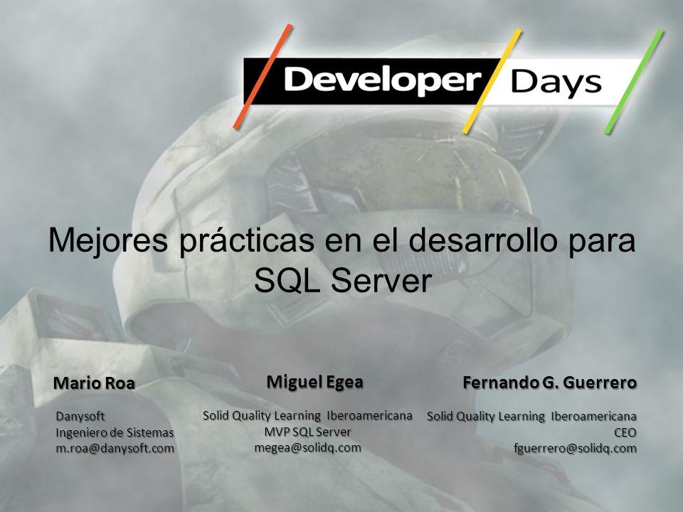 Mejores prácticas en el desarrollo para SQL Server