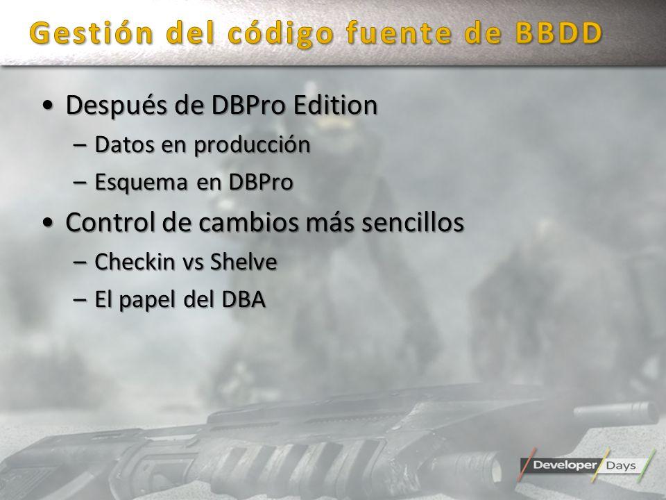 Gestión del código fuente de BBDD